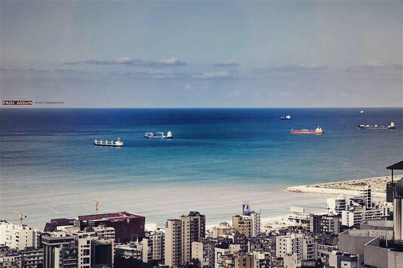 photo fadiaoun @faaoun lebanon beirut sea sky cityscape ...