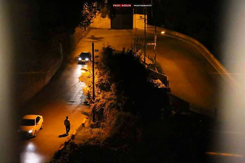 photo fadiaoun @faaoun roads lebanon night cars ...
