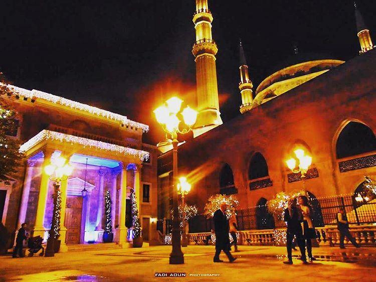 photo fadiaoun @faaoun mosque Christmas tree lights lebanon ...
