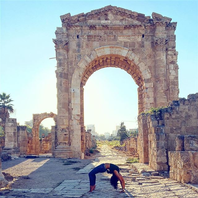I do things a little bit DIFFERENT. 👌🏼 lebanon livelovelebanon ... (Roman ruins in Tyre)