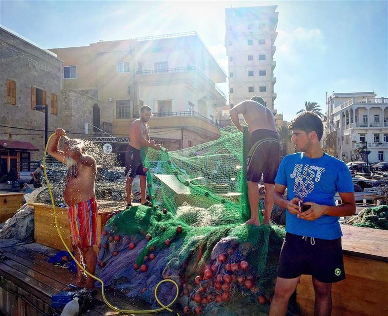 شمس وحب وحرية صباح_الخير ⚓️💙💦⛵️💦💙⚓️ goodmorning lebanon ... (صور الميناء)
