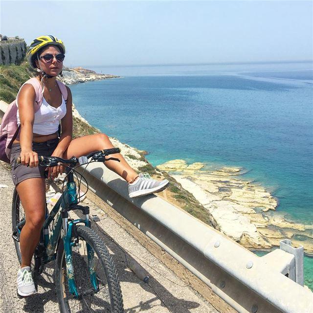 🚴🏽 livelovesports lebanon livelovelebanon tyrepage nakoura biking ... (Nakoura)