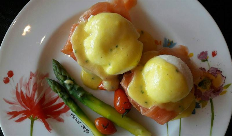 The best Eggs Benedict in town 😋 at @fsbeirut travel travellife ... (Four Seasons Hotel Beirut)