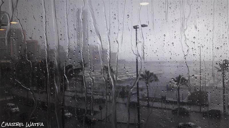 I like people who smile when it's raining ☔️ travel travellife ... (Four Seasons Hotel Beirut)