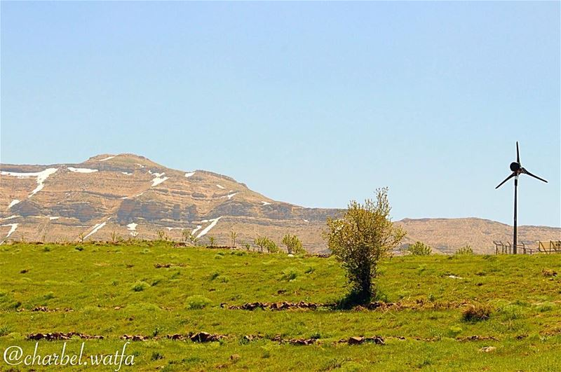 Wind turbine of Tannourine Lebanon windturbine windturbines ... (Tannourine, Liban-Nord, Lebanon)