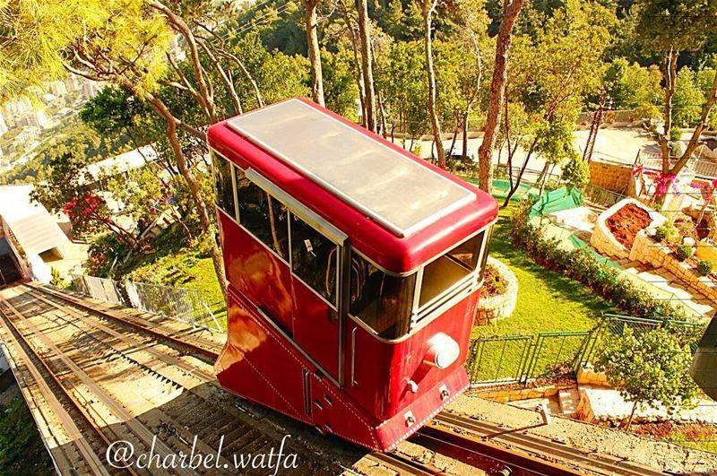 Funicular of Harissa Lebanon funiculars funiculare funicularrailway ...