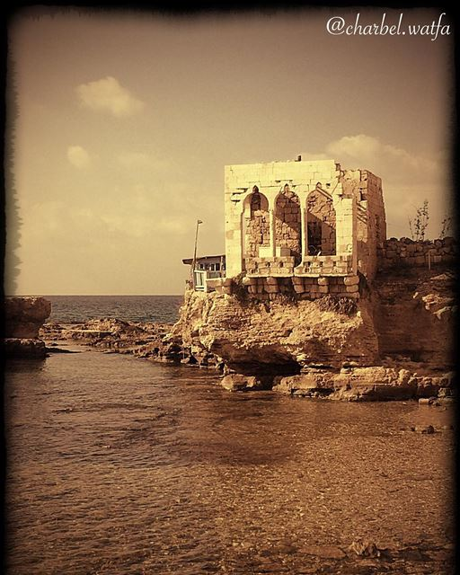 Old house of Lebanon stonehouse arcades bythesea shore traditional...