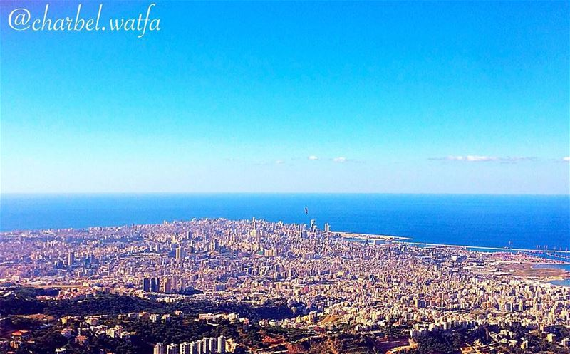 Beirut seen from beirtmeri nice cold weather clear view blue sky...