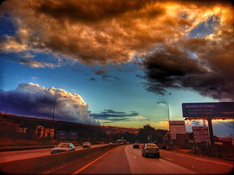beirut  beirutexit  lebanon  highway  everydayview  winter  clouds  storm...