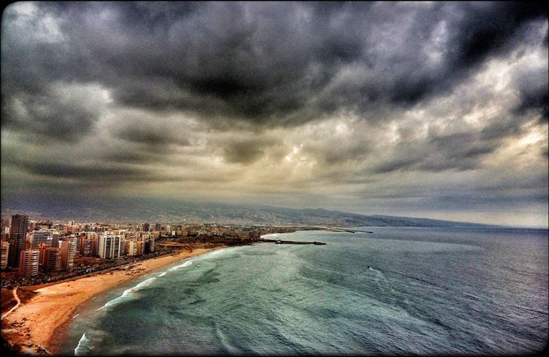beirut lebanon raouché ramletalbayda seaview seashore seaside ... (Ramlet Al Bayda Public Beach)
