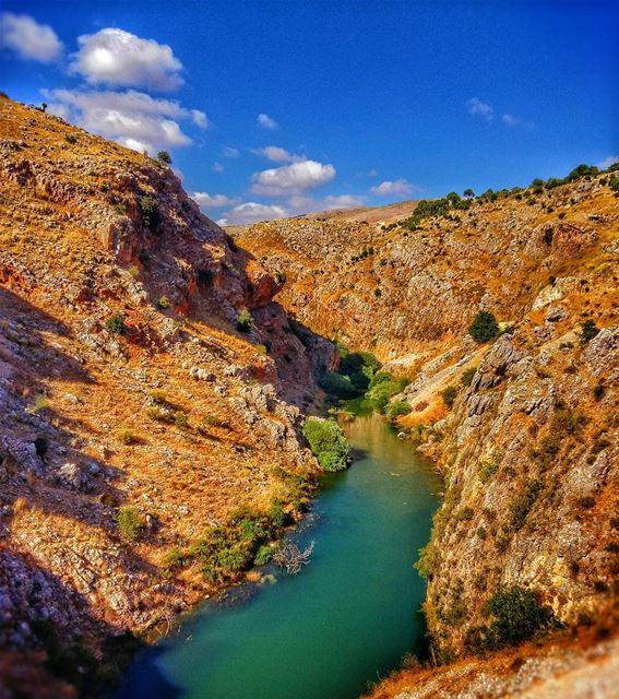 hasbani river mountains hasbaya marjeyoun south lebanon ... (Hasbani River)