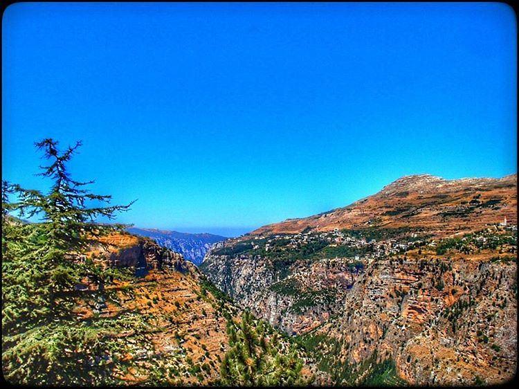 bcharre qadishavalley north lebanon nature mountains trees bluesky... (Bsharre, Kadisha Valley)