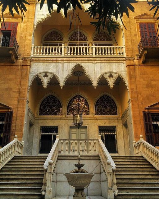 Fachada típica libanesa do Palácio Bustros em Beirute, fotografado por... (Ministry of Foreign Affairs and Emigrants)