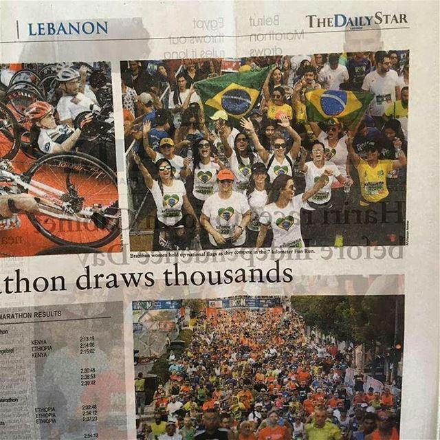 Maratonistas brasileiras em destaque no jornal libanês 🇧🇷🇱🇧 enviada... (Beirut Marathon)