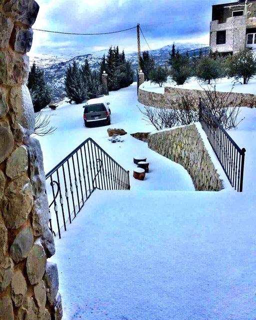 🌨❄️🌨 (Aïn Zhalta, Mont-Liban, Lebanon)