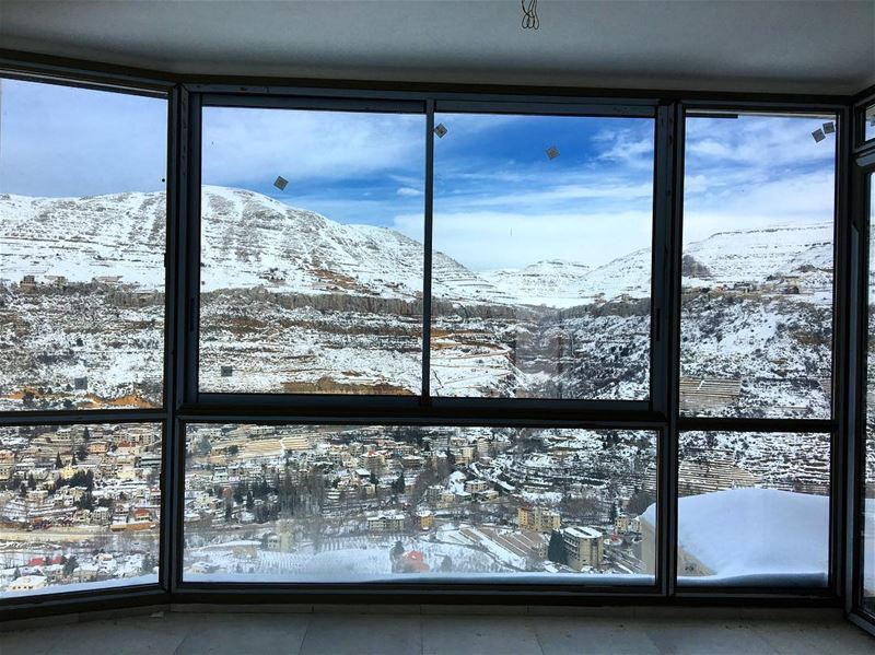Waking up to this 🏔🗻❄️☀️ For your inquiries about our residential... (Faqra Kfardebian)