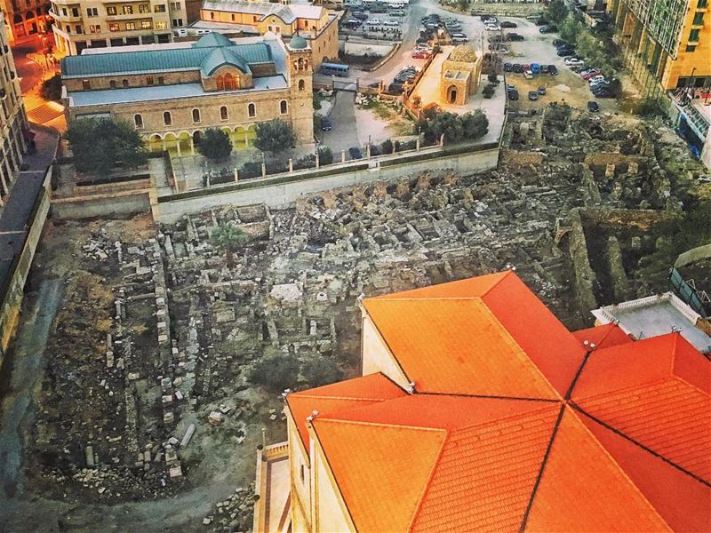 Three Cathedrals and Ruins BeirutDT ... (Saint George Maronite Cathedral, Beirut)
