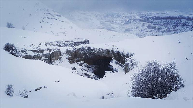 snowshoeing snow snow❄️ snowday winterfun hikingtrail hike ... (Faqra Kfardebian)