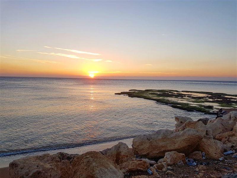 Sunday sunset in Mina ❤ tripoli ... (Corniche El Mina Tripoli)