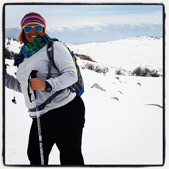 Snowshoing on jabal kneisseh ! jabal jabalkneisseh tourleb ... (Falougha, Mont-Liban, Lebanon)