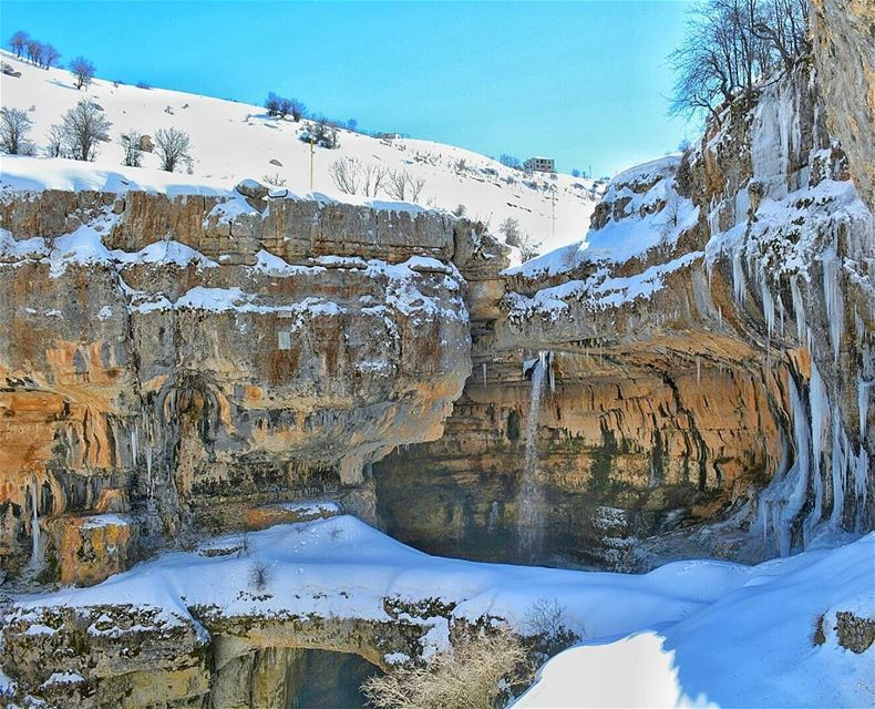 نضيفة متل الثلج Caption winter snow weather ice cold beautiful ... (Tannourine-Balou3 Bal3a)