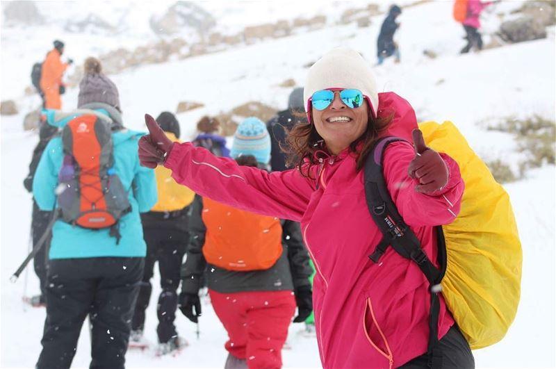 beautifulsmile morning sundayfunday snowshoeing snow february joy... (Falougha, Mont-Liban, Lebanon)