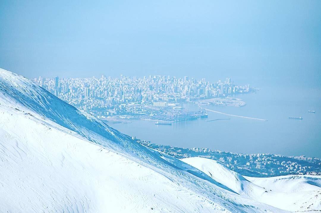 Beirut port as seen from Faraya Lebanon faraya ig_lebanon ... (Faraya Mzaar)