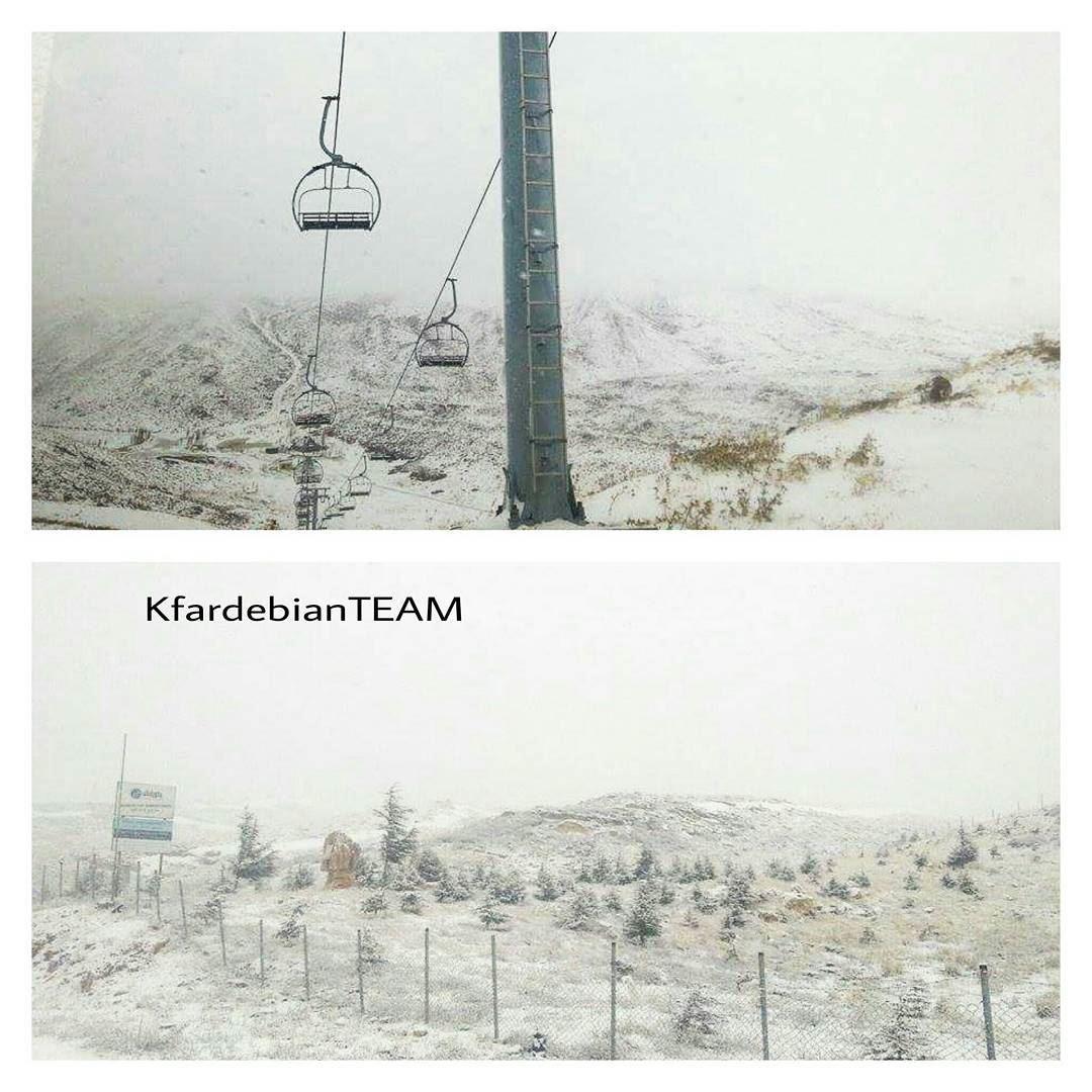 It's Snowinggg at Kfardebian ❄❄... @sergeakiki - KfardebianTeam ... (Mzaar Ski Resort Kfardebian)