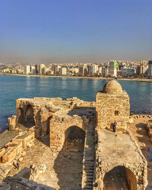 Love in the Time of Cholera.... sidon ruins nature sky_captures ... (Saida The Sea Castle)