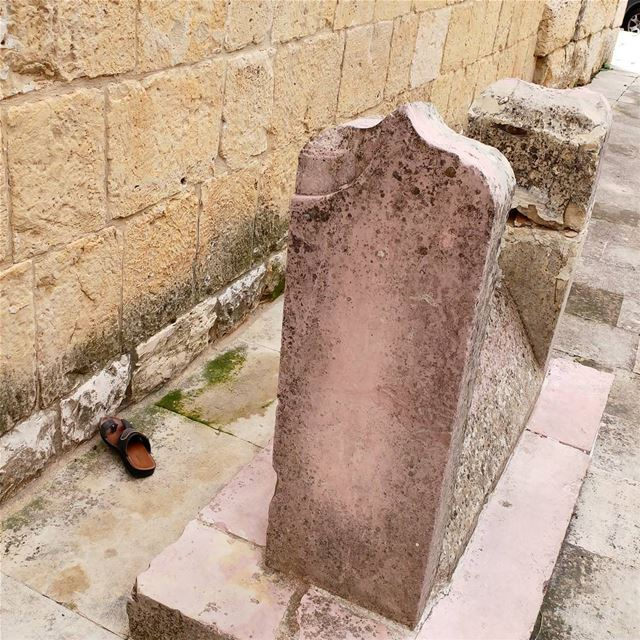 Oops. Left his shoe outside?  mosque  shoe  placeofworship  Lebanon ... (Dayr Al Qamar, Mont-Liban, Lebanon)