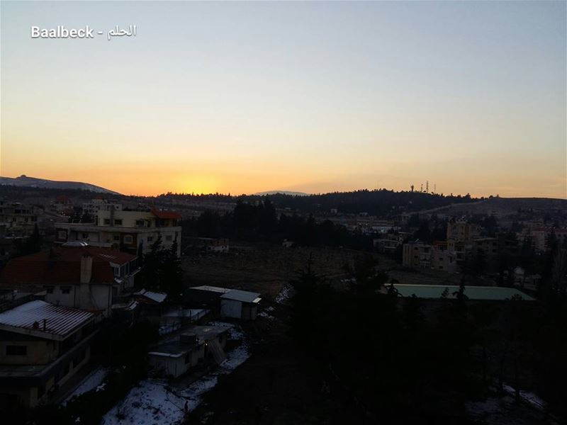 Baalbeck's sunset todayغروب الشمس اليوم في بعلبك IloveBaalbeck Baalbeck...