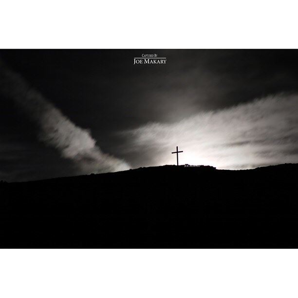 ehden ehdencross cross night light moon clouds blackandwhite bw ...