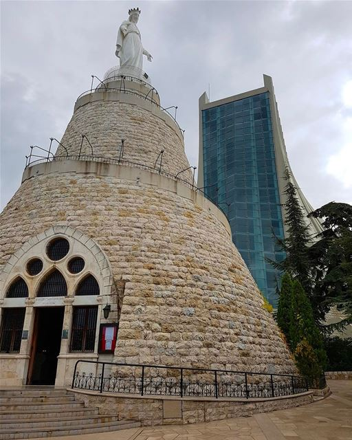 Notre Dame du Liban 🇱🇧 ourladyoflebanon  harissa  blessed  sanctuary ... (Our Lady of Lebanon)