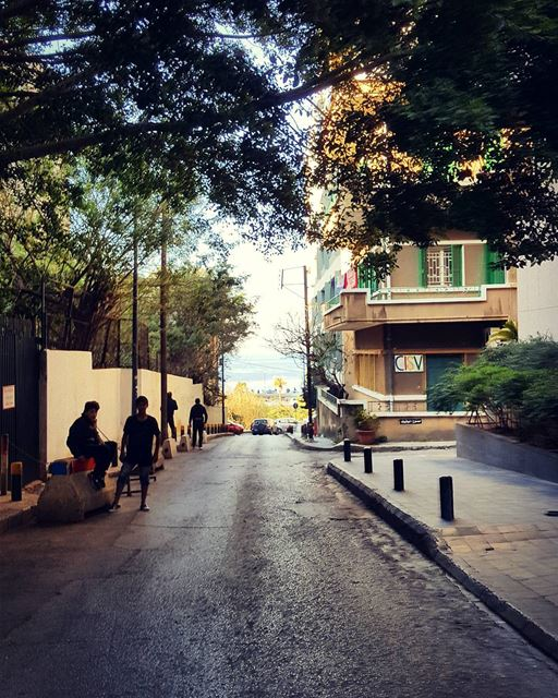 The Ultimate Freedom is to run the middle of empty streets.. run fly... (Beirut, Lebanon)