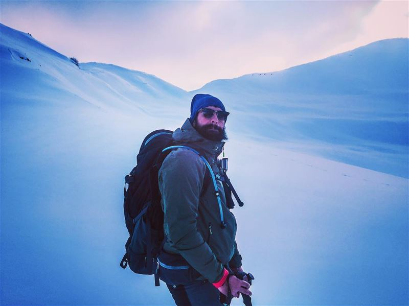 Mountain beard..... snow snowshoes lebanon winter explorelebanon ... (Mount Sannine)