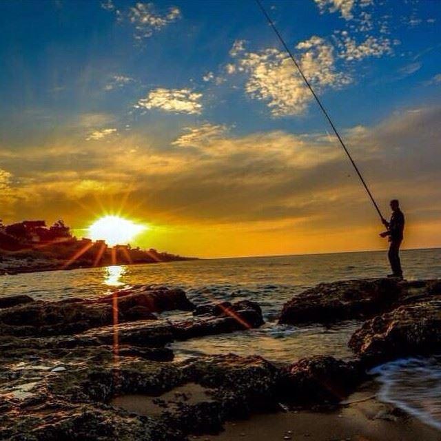 sunset fisherman sea amazinglebanon authenticlebanon i_love_lebanon ...