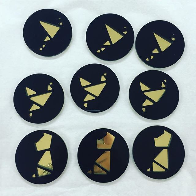 coasters  brass  lasercut  design  origami  collection  lebanon  uae ...