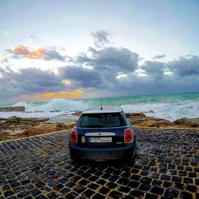 The road trip car minicooper minicooperjcw minicooperlebanon clouds☁ ...