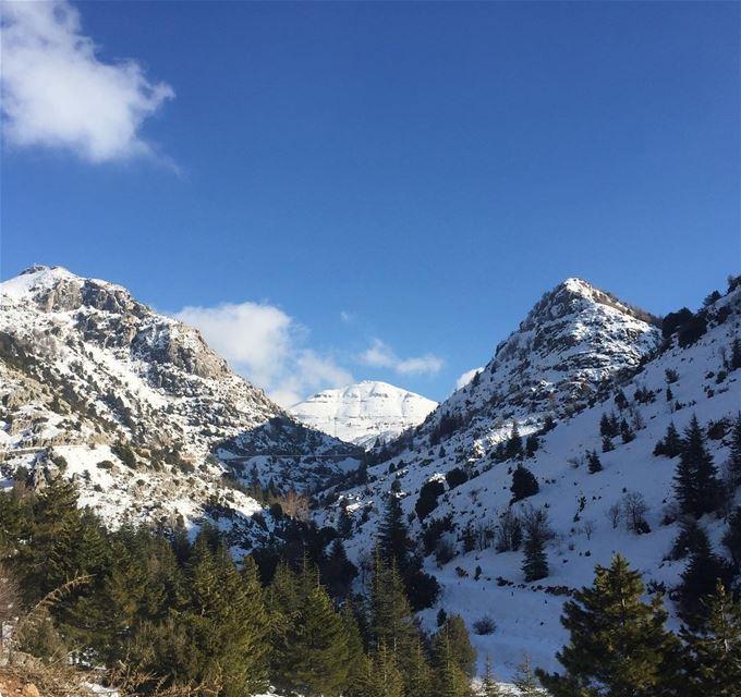 🗻❄️🏔 ... snow mountains collins picoftheday photooftheday nature... (Ehmej, Mont-Liban, Lebanon)