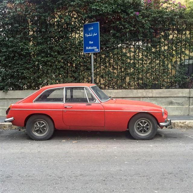 When I see an MGB , I tip my hat🎩. morning MGB car old classiccar ... (مار نقولا - الاشرفية)