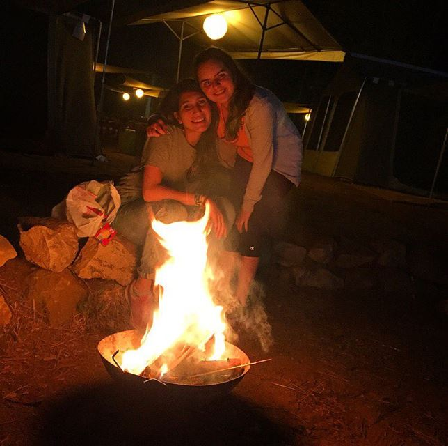 ⛺️🍡🔥🍢 camping camp girls night smile happiness happy explore ...