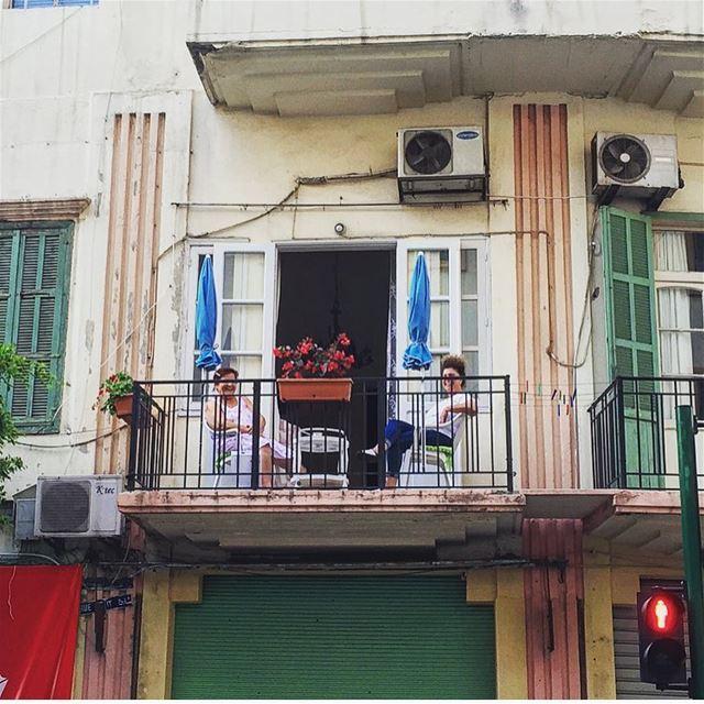 b o n j o u r ☕️ morning picoftheday photooftheday balcony coffee ... (Mar Mikhael, Beirut)
