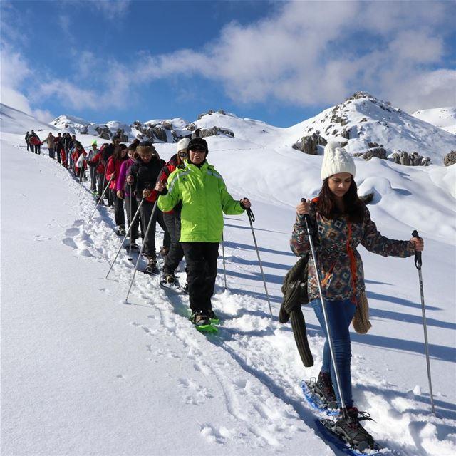 Walk the line !! hiking snow neige sport Lebanon lebanese Liban ... (Laklouk)