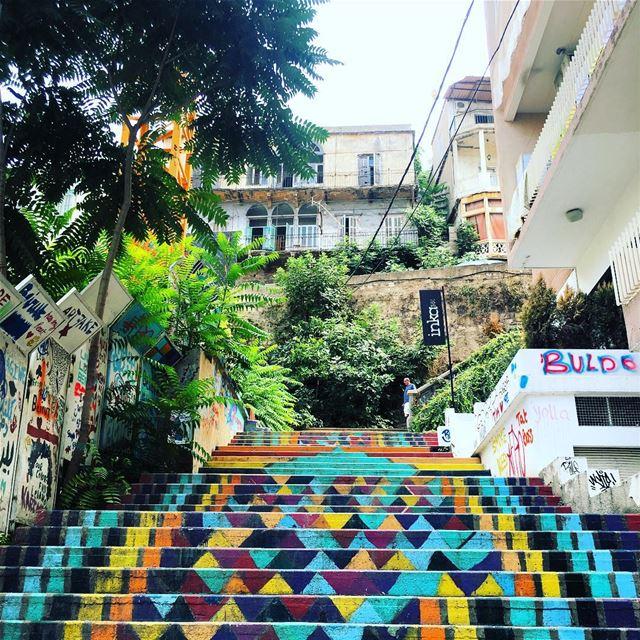 beirut lebanon colored stairs ... (Beirut, Lebanon)