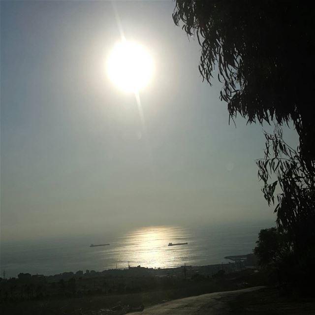 Road to Beirut Lebanon sun light reflection sea ...