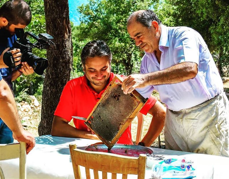 nogarlicnoonions in qartaba tasting my father's honey The looks on... (Qartaba)