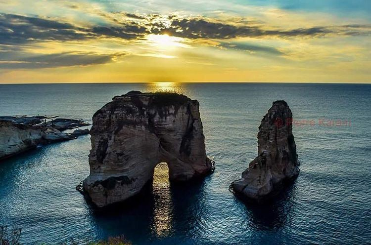 rawche sunset beirut Lebanon raouche livelovebeirut livelovelebanon...