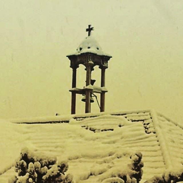 Qartaba sayde church snow ...