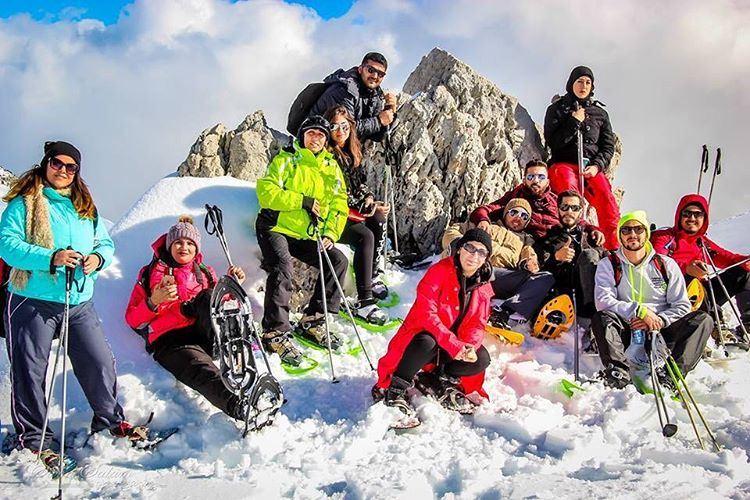 friendsofnature lebanonlovers natureaddict snowshoeing whatsuplebanon ... (Laqlouq)