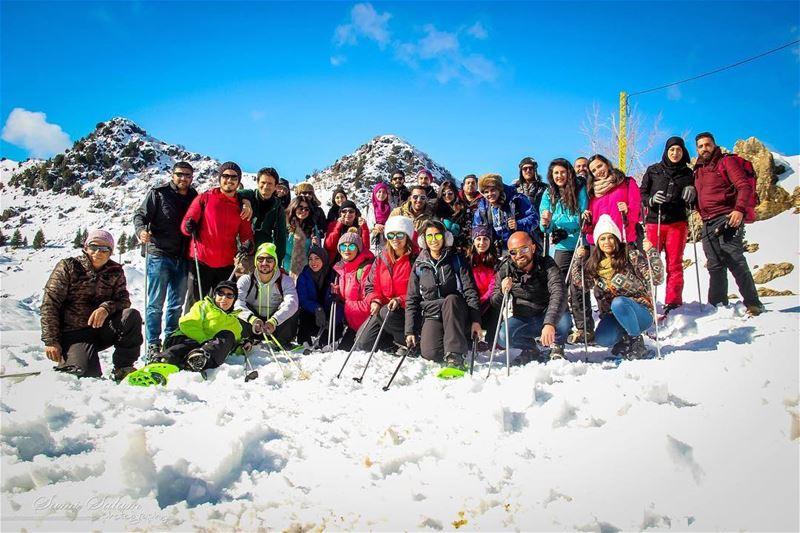 friendofnature hikers wildernessculture amazing groupselfie ... (El Laklouk, Mont-Liban, Lebanon)